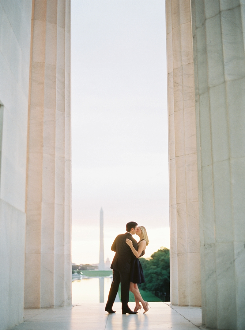 sunrise dc engagement on fuji 400h film by Shannon Moffit photography